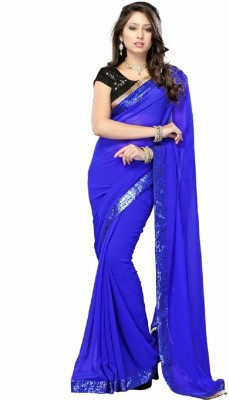 SRK Self Design Bollywood Handloom Chiffon Sari