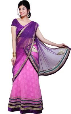 Ishin Printed Fashion Net, Jacquard Sari