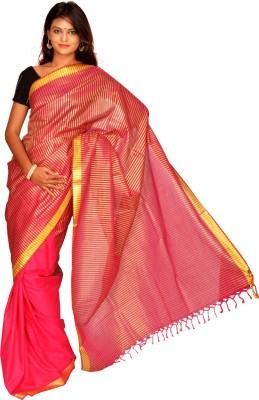 Jagadamba Striped Fashion Cotton Sari