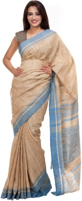 Elite Handicrafts Plain Bhagalpuri Handloom Tussar Silk Sari