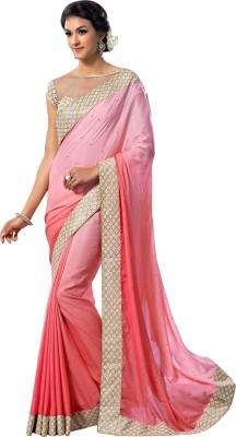 Brijraj Embellished Fashion Georgette, Silk Sari