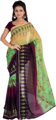 Sonika Printed Daily Wear Handloom Georgette Sari