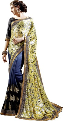 Manvaa Embriodered Fashion Brasso Sari