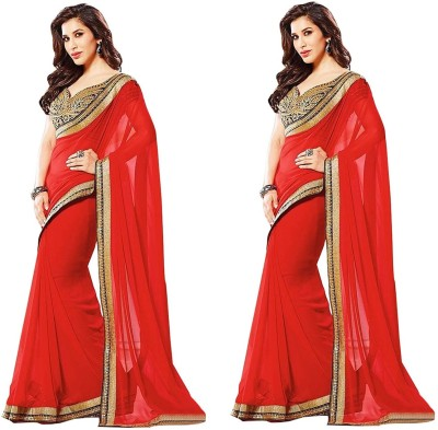 Cocojumbo Self Design Fashion Chiffon Sari