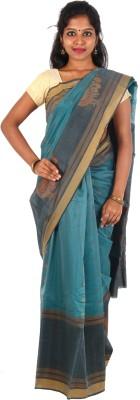 Orchids Woven Coimbatore Handloom Silk Cotton Blend Sari