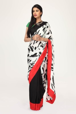 Sujatra Printed Fashion Crepe Sari