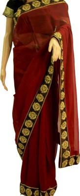 Samunnati Solid Daily Wear Handloom Crepe Sari