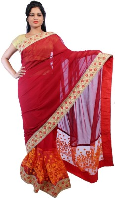 Fashiondodo Self Design Fashion Velvet Sari