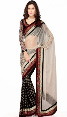 Jhankar Fab Self Design Bollywood Net Sari