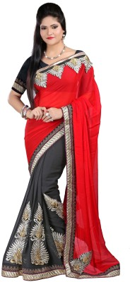 Fashion Designer Sarees Embriodered Fashion Georgette Sari