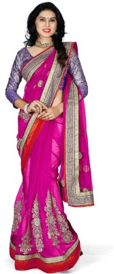 Naksh Creation Self Design Bollywood Net Sari