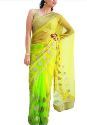 Sthavi Embriodered Fashion Net Sari
