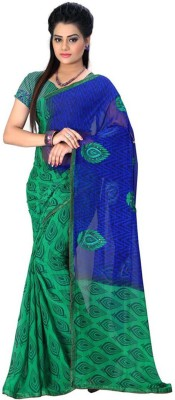 Maahika Embriodered Fashion Synthetic Georgette Sari