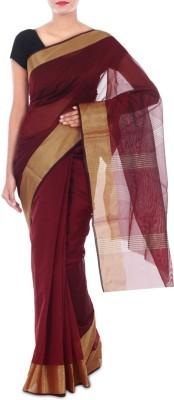 Paradise Fashion Plain Banarasi Handloom Synthetic Georgette Sari