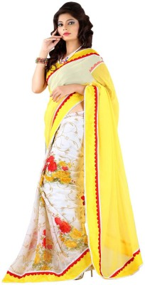 Al Zareen Self Design Bollywood Chiffon Sari