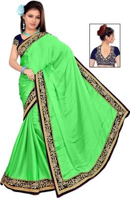 Krishna Creation Plain Daily Wear Chiffon Sari