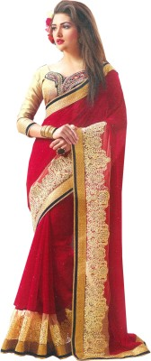 A Square Jodhpur Self Design Fashion Georgette Sari
