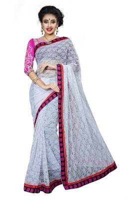RIDDHIsiddhi Self Design, Embriodered Fashion Brasso, Net Sari