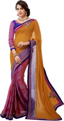 Morli Self Design Fashion Handloom Georgette Sari