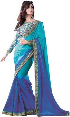 Al Zareen Embellished, Embriodered Fashion Satin Sari