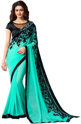 starenterpries Embriodered Bollywood Georgette Sari