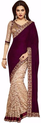 Suresh Self Design Fashion Net, Velvet Sari