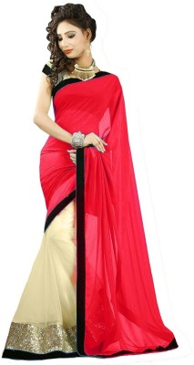 Shoppingekart Plain Fashion Chiffon Sari