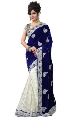 Fashionuma Embriodered Fashion Velvet, Brasso Sari