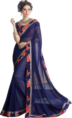 Indian Pahnaav Embellished Bollywood Georgette Sari