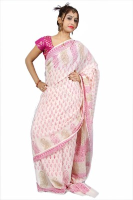 Creativz Hand Self Design Bollywood Georgette Sari