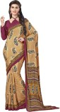 Sushma Printed Fashion Crepe Saree (Mult...