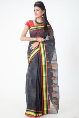 Jhumya Woven Tant Handloom Cotton Sari