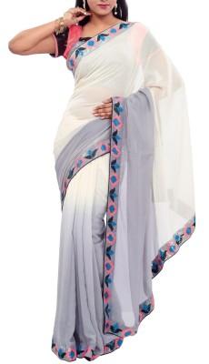 Estri Solid Fashion Georgette Sari