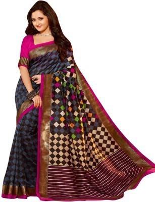 Sabsesasta Printed Bhagalpuri Khadi Sari