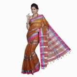 Ethino Self Design Fashion Cotton Sari