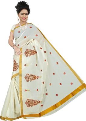 BrindavanSilks Embriodered Fashion Cotton Sari