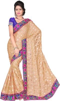 Aanchal Fashion Solid Fashion Silk Sari