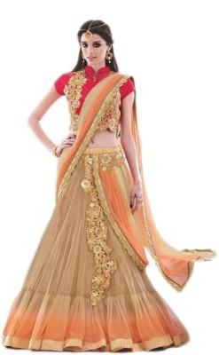 NARGIS FASHION Applique Fashion Net Sari