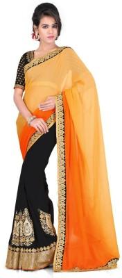 Kesar Sarees Self Design Bollywood Georgette Sari