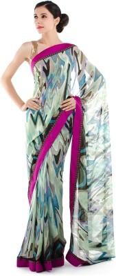 Bazzzar Graphic Print Fashion Chiffon Sari