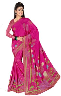 Generation Touch Printed Chanderi Crepe Sari