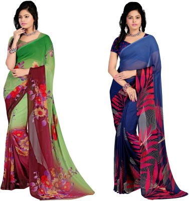 Stylobby Floral Print Daily Wear Georgette Sari