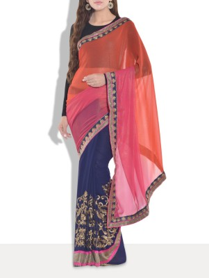 Manglam Sarees Embriodered Bollywood Georgette Sari