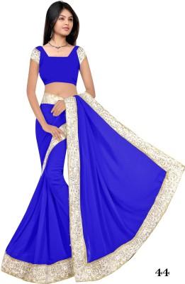 stylish sarees Plain Bollywood Synthetic Sari