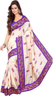 Janvi Enterprise Embriodered, Self Design Banarasi Handloom Cotton Sari
