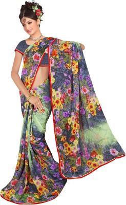 Ratnapriya Sarees Printed Fashion Synthetic Chiffon Sari
