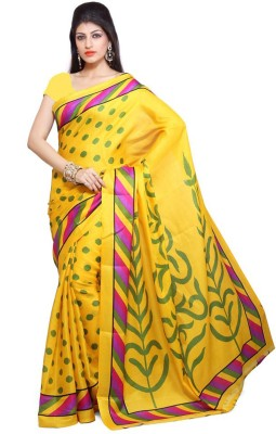 Supriya Fashion Printed Bhagalpuri Silk Sari