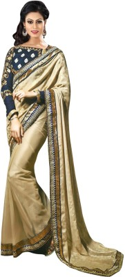 SUHRAD CREATION Plain Fashion Jacquard Sari