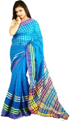 Raa Sha Self Design Fashion Handloom Cotton, Silk Sari