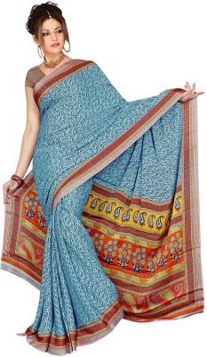 Chinco Printed Bollywood Crepe Sari